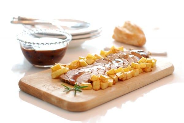 Solomillo a la sal con salsa Pedro Ximenez