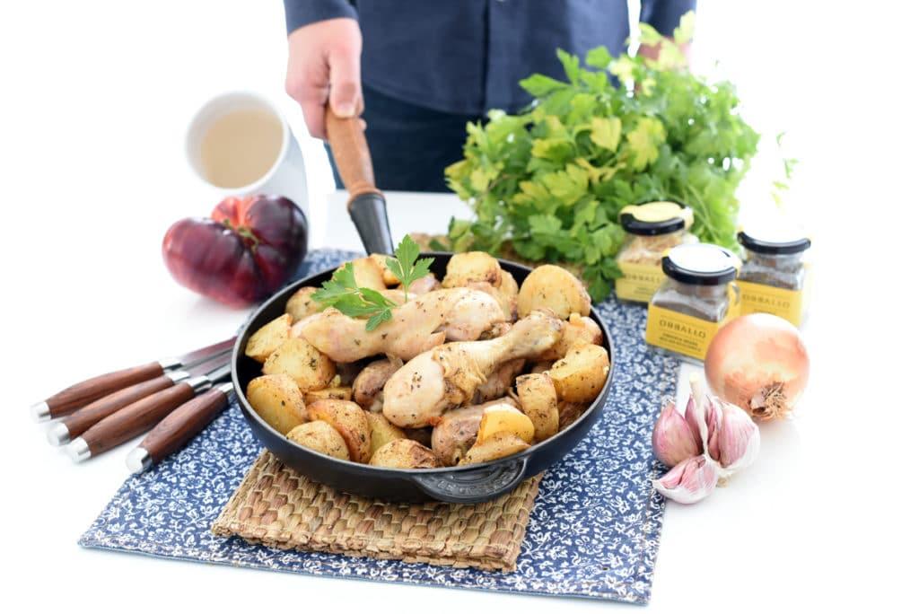 Pollo con patatas al estilo cajún, absolutamente deliciosas!