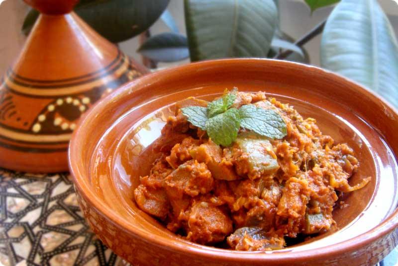 Ensalada Marroquí de calabacín y berenjena