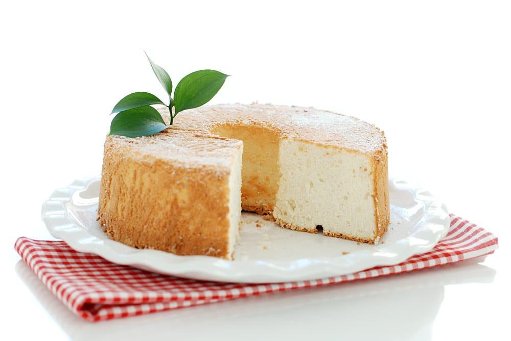 Angel Food Cake básico, mira que miga