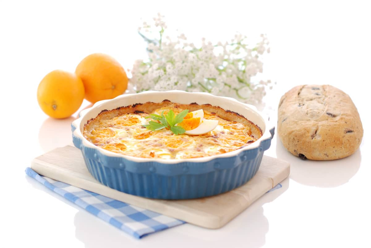 Huevos con salsa aurora